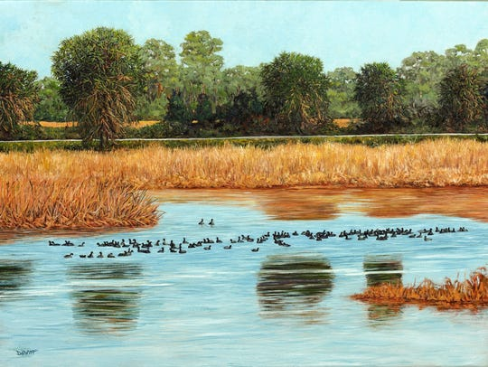 American coots at St. Marks by Robert Dewitt Smith.