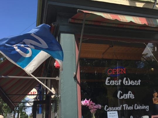 The East West Cafe in Burlington is pictured August