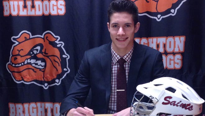 Brighton boys lacrosse player Walker West will play for Aquinas College next season.