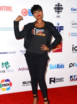 Jennifer Hudson arrives at the 4th Annual Stand Up 2 Cancer Live Benefit at The Dolby Theatre on Friday, Sept. 5, 2014, in Los Angeles.