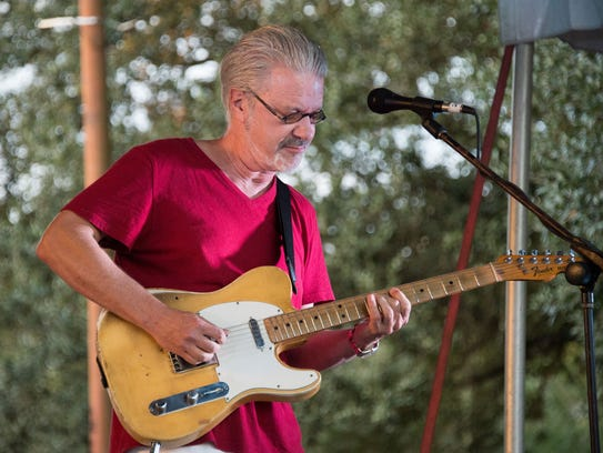 Sam Broussard plays electric, slide and acoustic guitar