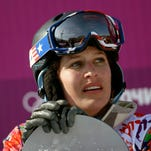 Lindsey Jacobellis competes in snowboarder X.