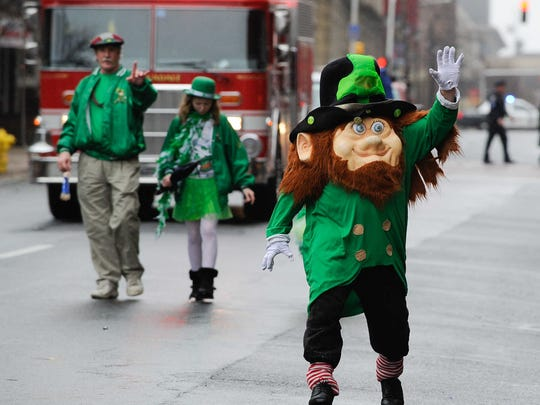 Sean Crothers of New Castle dressed as a leprechaun during the Irish Culture Club of Delaware's 40th annual St. Patrick's Day Parade