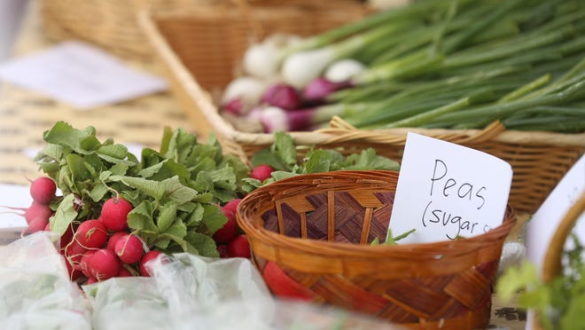 Produce for sale at the South Hutchinson Famers Market. Vouchers for low-income seniors to help by produce will again be available through the Reno County Department of Aging starting July 14. The vouchers go fast.