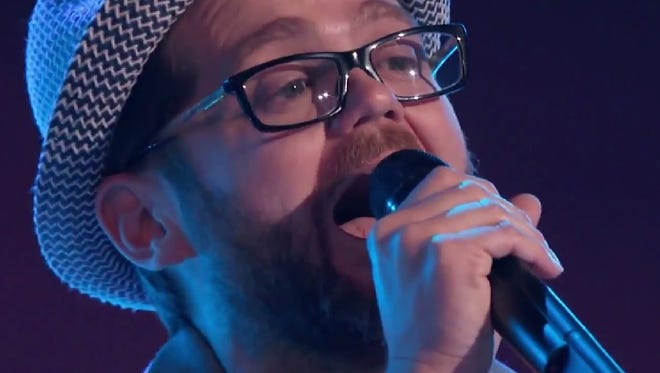 """Josh Kaufman performs """"One More Try"""" on the March 10 episode of """"The Voice."""""""