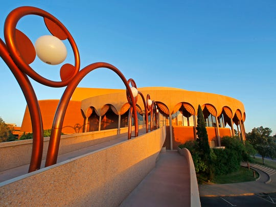 ASU Gammage was initially conceived as a Baghdad opera house commissioned by King Faisal II of Iraq. After Faisal was assassinated in 1958, it was never built, but Wright dusted off the plans for Tempe the following year.