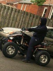This photo of Damon Grimes on his ATV was taken one