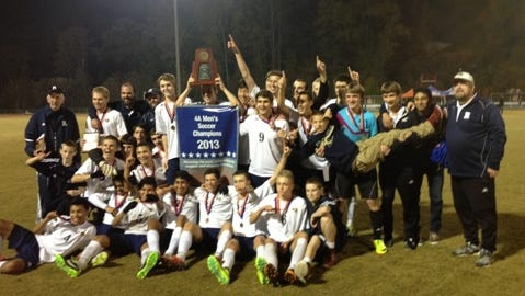 Roberson won the NCHSAA 4-A boys soccer championship in November.