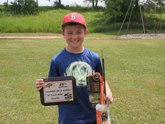 Austin Hoyer with his first-place crappie plaque and