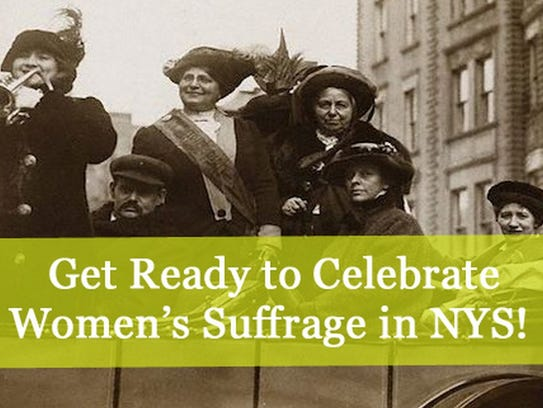 A New York state promotion of the centennial of women's