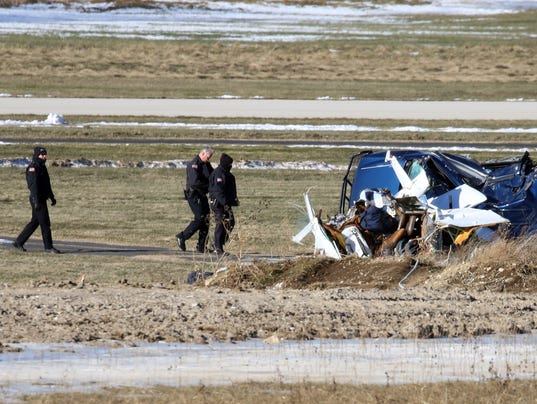 Brookfield plane crash injures three
