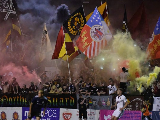 Detroit City FC faithful at Keyworth Stadium