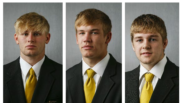 Ross Lembeck, Logan Ryan and Seth Gross. Hawk Central is attempting to acquire jail mugshots of the wrestlers.