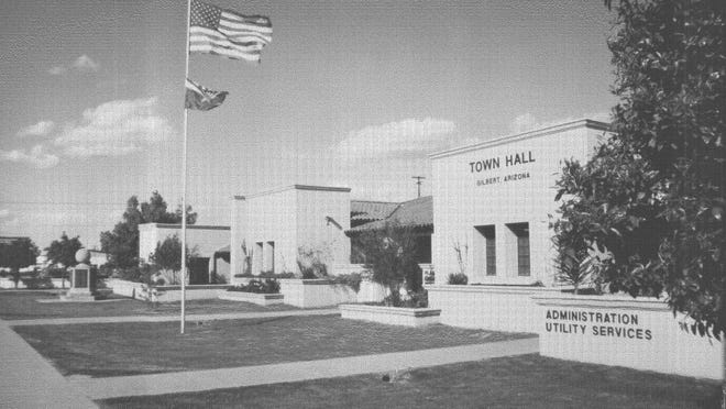 The Gilbert Town Hall's administration building was modernized and expanded in 1982.