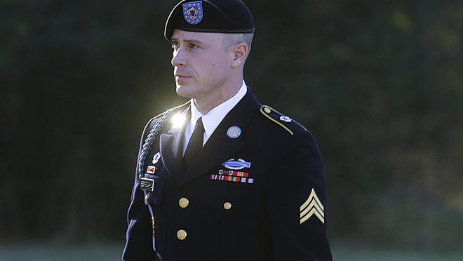 Army Sgt. Bowe Bergdahl arrives for a pretrial hearing at Fort Bragg last month.