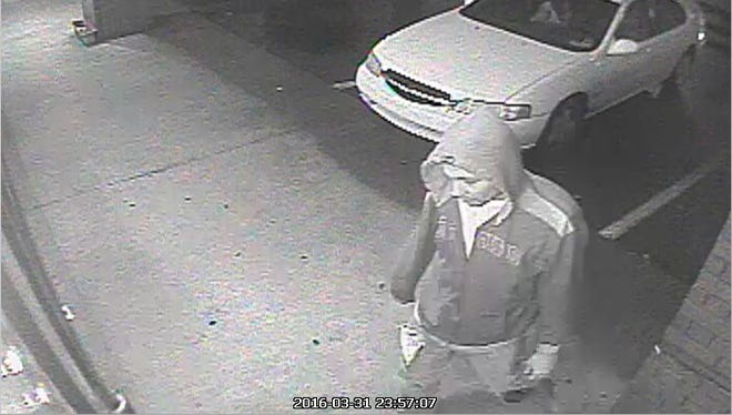 This man is sought as a suspect in the vandalism and attempted burglary of two Smyrna businesses. Anyone with information should call 615-267-5433.