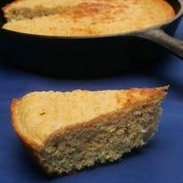 A slice of cornbread