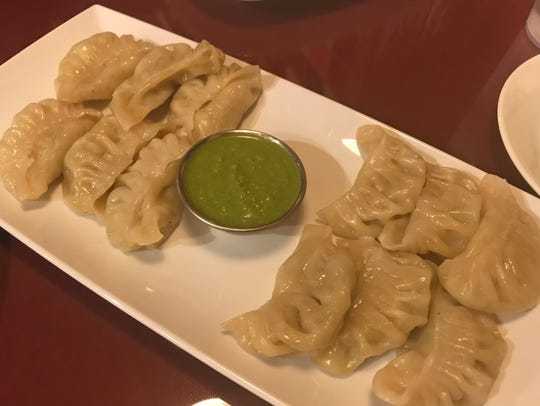 Vegetable steamed momo (dumplings) at Everest Restaurant