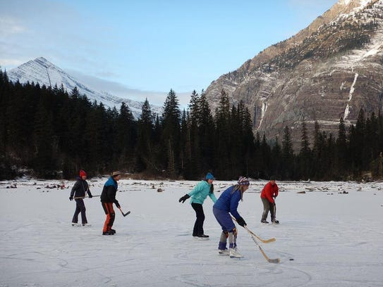 A pick-up hockey game is one of the ways Montanans