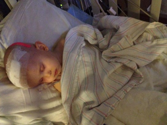 Noah Craten rests in the hospital.