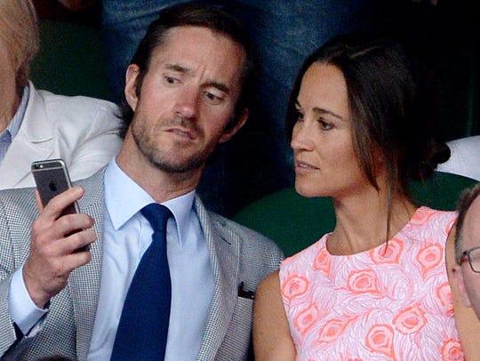 Pippa Middleton and James Matthews at Wimbledon on
