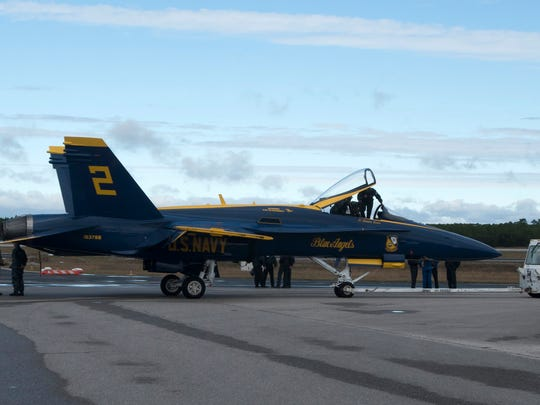 Crews prepare the Blue Angels' jets on Thursday, Nov. 9, 2017, for the weekend's Homecoming Air Show at Pensacola Naval Air Station. The upcoming shows will mark the end of the team's 2017 season.