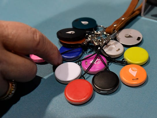 The TrackR is a coin-sized device that can locate items