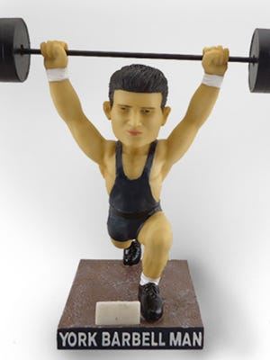 Strongest Town? We have the barbell guy. (Not actual size.) Game over.