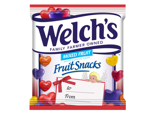 Welch S Fruit Snacks Food Label Box