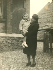 Cyla Lindenberg Kahane was killed by the Nazis during WWII. Here she is seen holding her daughter Frances Cutler Hahn, who then was Fanny Lindenberg Friday Oct. 6, 2017, in Nashville, TN