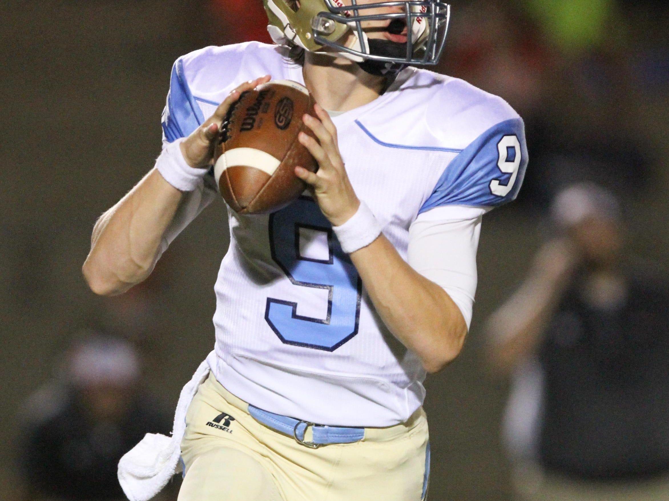 Daniel quarterback Ben Batson (9)