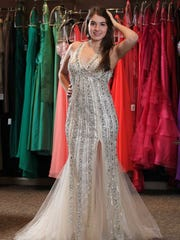 Natalie Cortino, 18, of the North Oldham High School, is prom ready. Mar. 5, 2014