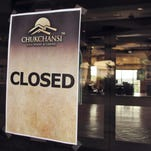 In this 2014 file photo, a sign is posted in the door of the shuttered Chukchansi Gold Resort and Casino in Coarsegold.