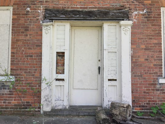The front door at 373 Riverside Dr., believed to be