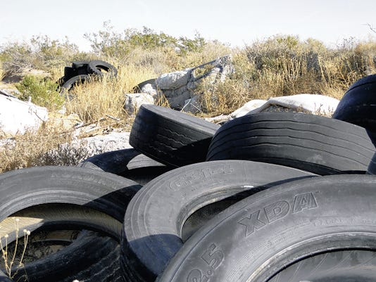 Toilets, mattresses and hundreds of tires litter the landscape near Berino — just one of more than 700 illegal dump sites around the county that have been reported by residents through the NO THROW APP or the 877-NO-THROW phone number.