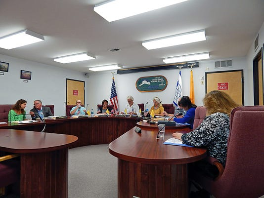 City councilors discuss the property in question at a recent Ruidoso Downs City Council meeting.