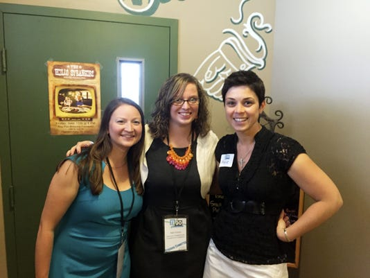 From left to right: Kimberly Clapper, Amy Fisher and Annie Gomez-Shockey are all members of the steering committee of the newly formed young professionals group the 11/30 Network.