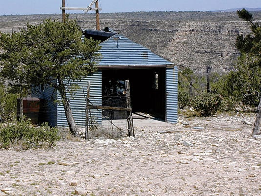 This photo of the diesel fuel barn and transformer station on the rim above Last Chance Canyon was taken circa 2003 while on a hike through Last Chance Canyon.