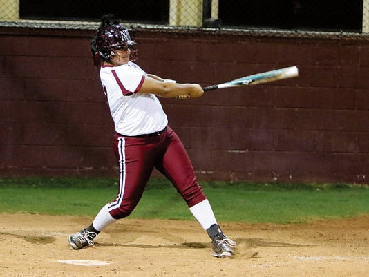 Courtesy photo   New Mexico State junior Fiana Finau is 13th in the country with 15 home runs this season. She fell one game shy of matching the NCAA record for most consecutive games with a home run.