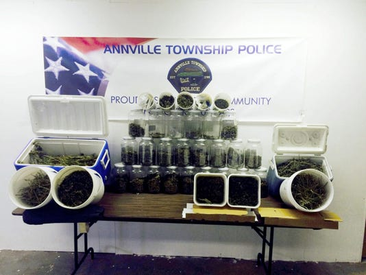 Annville Township Police confiscated more than six pounds of marijuana at 243 E. Main St. and charged David Porche, 52, and Sarah Porche, 56,  with possession with intent to deliver and manufacture marijuana and hash.