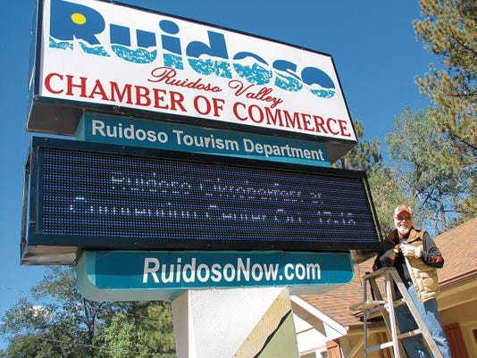 A 2014 Power Up grant enabled LBFRC to purchase and install a similar sign at the Ruidoso Valley Chamber of Commerce on Sudderth Drive.