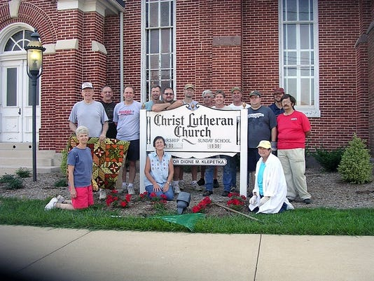 submitted The morning of Saturday, August 7 proved to be one of the most beautiful days of the summer. That's when dozens of members and friends of Christ Lutheran Church in Shrewsbury gathered for a church clean-up project.
