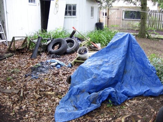 Yard debris like tires and tarps left out can collect pools of water where mosquitoes lay eggs. Reducing yard debris is a step residents can take to minimize their contact with mosquitoes.