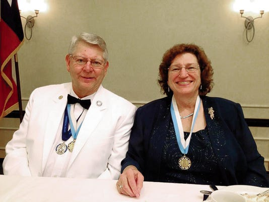 Bob Carson, left, and his wife, Alma Carson, at the Kiwanis District Convention where Carson was elected Southwest District governor in Tucson, Ariz. on Aug. 8. Courtesy Photo