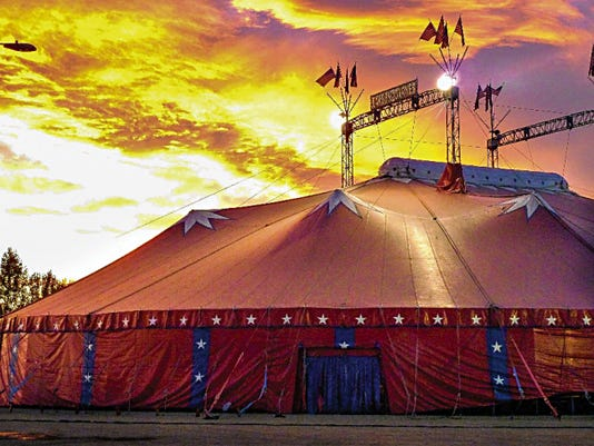 Courtesy Photo   Carson & Barnes Circus has the big top tent ready and two performances will be staged today. Families will enjoy a 4:30 and a 7:30 p.m. show at the old Cotton Gin property, 2280 Columbus Road. There will be a chance for children to see the animals before the show. Tickets at the box office are 16 for adults and 10 for children under 12. For more information on the tour and on tickets, visit the Carson & Barnes website: www.carsonbarnescircus.com, or call 580-743-7292.