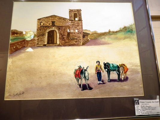 """Courtesy Photo   Shown is """"Donkey Serenade,"""" a 20"""" x 24"""" watercolor on Arches Paper by Grant County Art Guild member Ruth Hamby."""