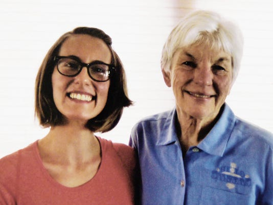 Catherine Stailey, left, is the recipient of the 24 Club Betty Cook Memorial Scholarship, which was presented to her recently by 24 Club Scholarship Chairwoman Mary Cowan. Courtesy Photo