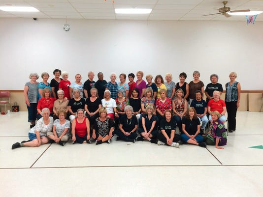 Submitted Photo   Over 40 members joined the Line Dance Group at the Mesa Senior Center. Classes for advanced and beginning dancers are available.
