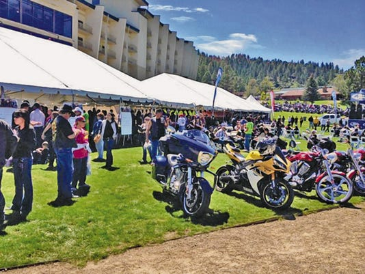 The annual Golden Aspen Motorcycle Rally in September receives lodgers tax money from Lincoln County, the village of Ruidoso and the city of Ruidoso Downs. Although the rally is staged at the Inn of the Mountain Gods on the neighboring Mescalero Apache Reservation in Otero County, organizers point out that it draws thousands of visitors to the area and fills up local lodging.