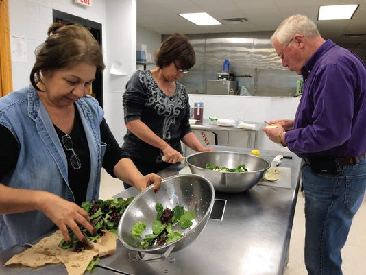 A salad can be part of any heart-healthy meal as students found out during the Kitchen Creations course.